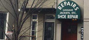 luggage, jacket shoe repair shop